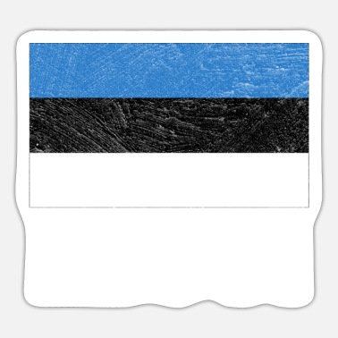 National Estonia Nationality Flag Nation National Colors - Sticker