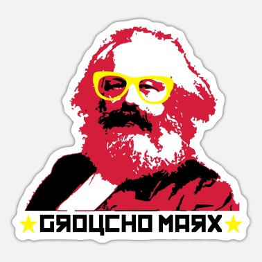 Marx Groucho Marx - Sticker