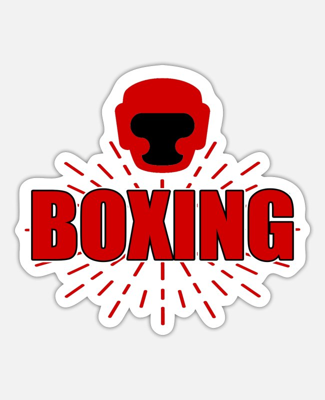 Martial Arts Stickers - boxing match - Sticker white mat