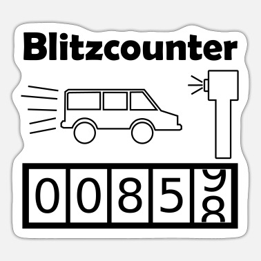 Counter Lightning counter / Speed camera / Counter / Counter - Sticker