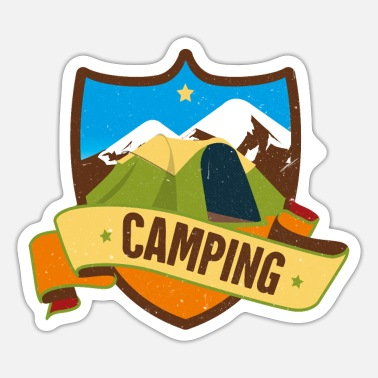 To Camp Camping tent camping - Sticker