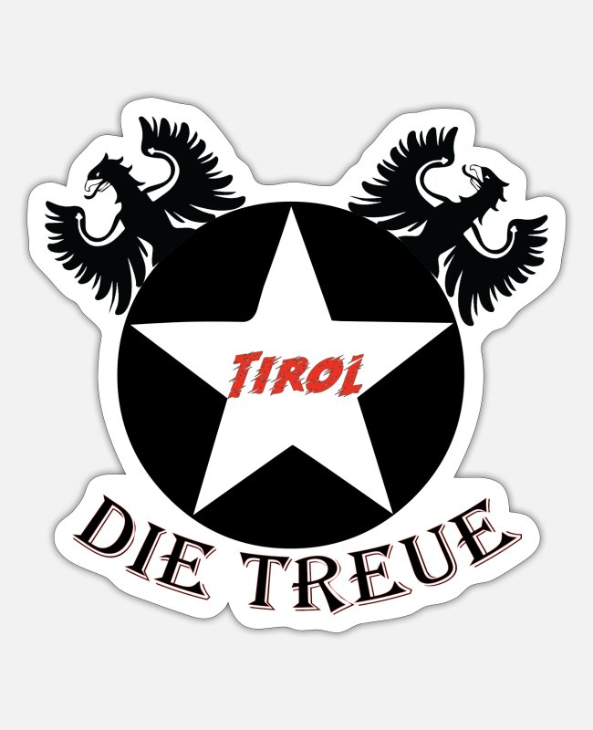 South Tyrolean Stickers - Tyrol's loyalty - Sticker white matte