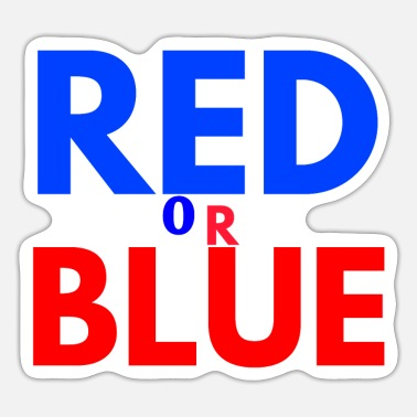 Red Red or blue red or blue - Sticker