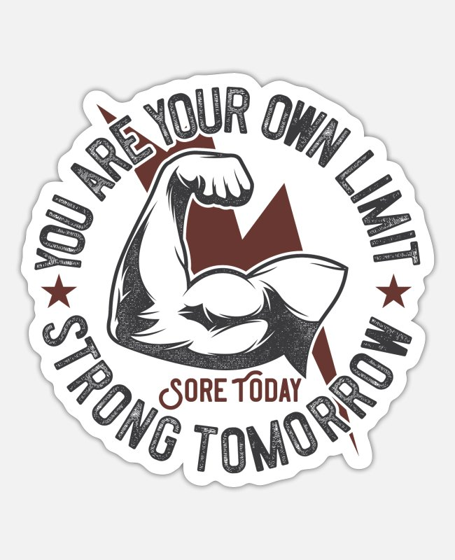Training Stickers - gym - Sticker white matte
