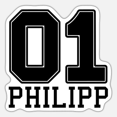 Birth Name Philipp name first name - Sticker
