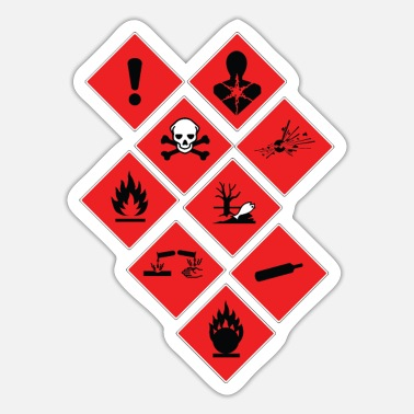 Warning Sign warning sign - Sticker