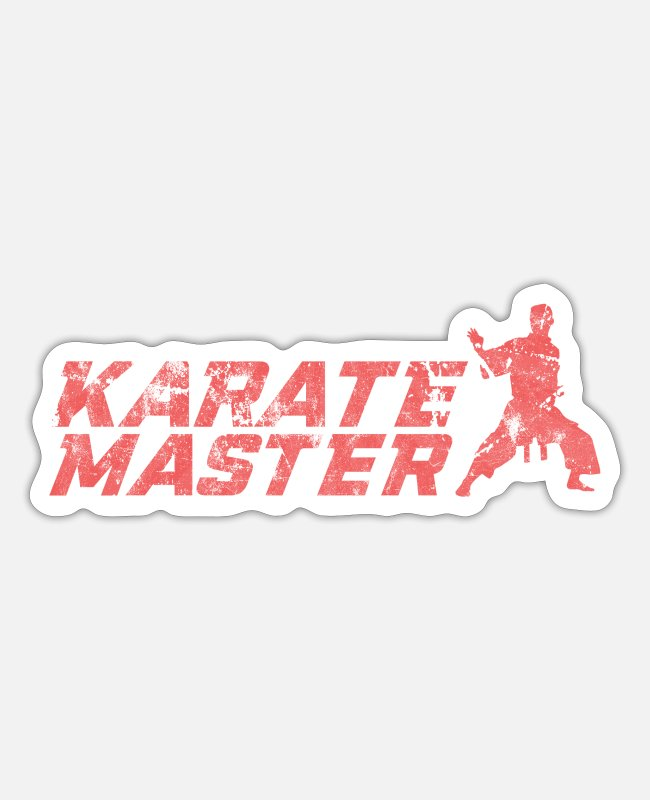 Karate Sticker - Kampfsport - Sticker Mattweiß