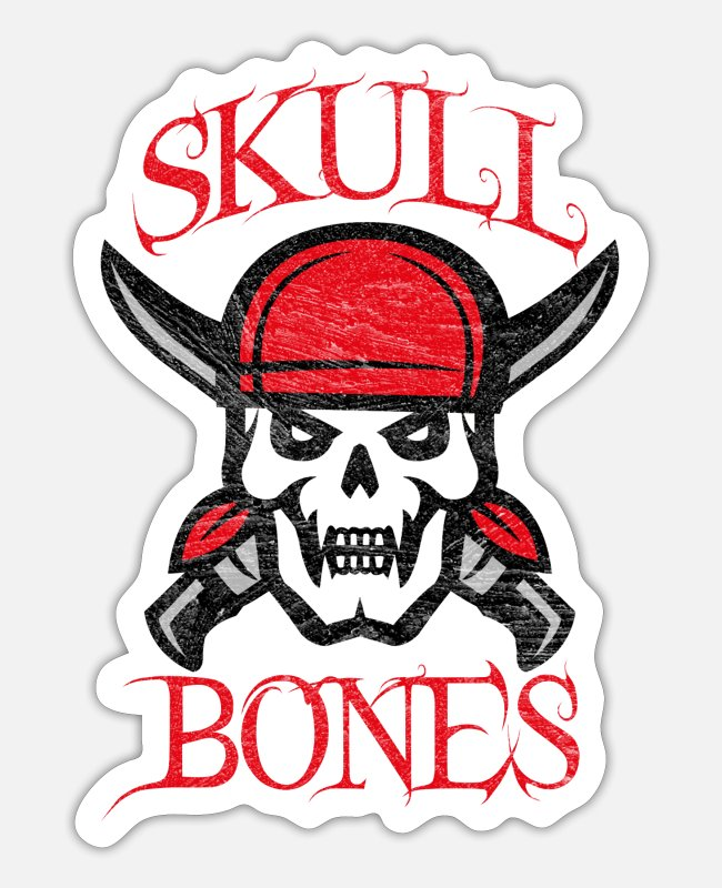 Pirate Flag Stickers - Pirate skull - Sticker white matte