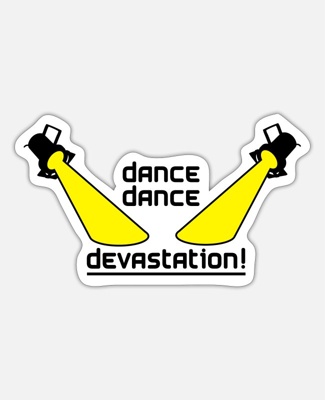 Dancehall Stickers - Dance Dance Devastation - Sticker white mat