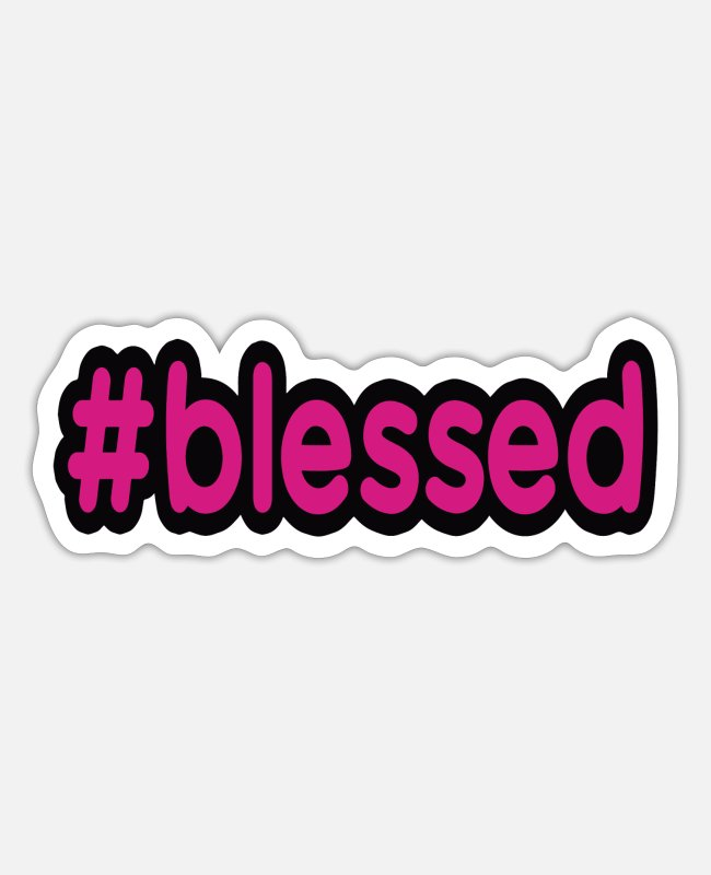 Theology Stickers - BLESSED BLESSED - Sticker white mat