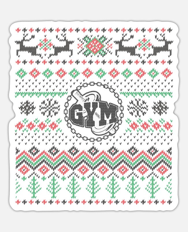 Training Stickers - Christmas shirt for the gym / gym - Sticker white matte