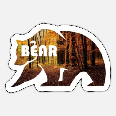 Bear Bear In The Forest Bear Bear Bear Fan Bear Gift - Sticker