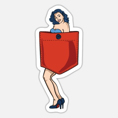 Pin-up Pin up pige lomme - Sticker