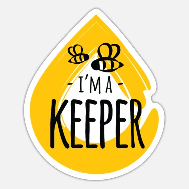 Bee I'm a Keeper honey animal insect beekeeper - Sticker