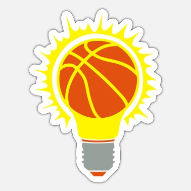 Birne basketball ball bulb bulb birne - Sticker
