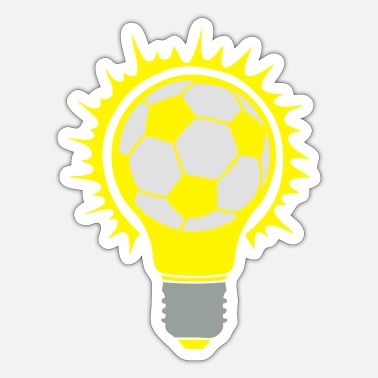 Birne football soccer ball bulb bulb birne - Sticker