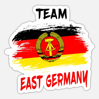 Stasi Team East Germany Gift DDR East Ossi - Sticker