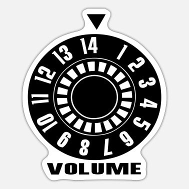 Volume Volume, Volume, Volume Up, Volume Down, Music Design - Sticker