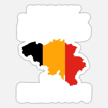 Country belgium country and countries - Sticker