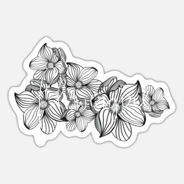 Girlie Flower Girl Girlie vriendin cadeau - Sticker