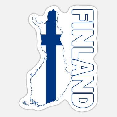Country Finland country and countries - Sticker