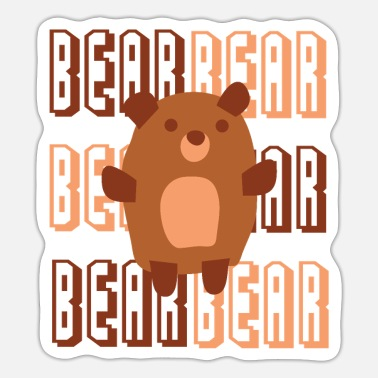 Bear Bear, Bear, Brown Bear, Gift - Sticker