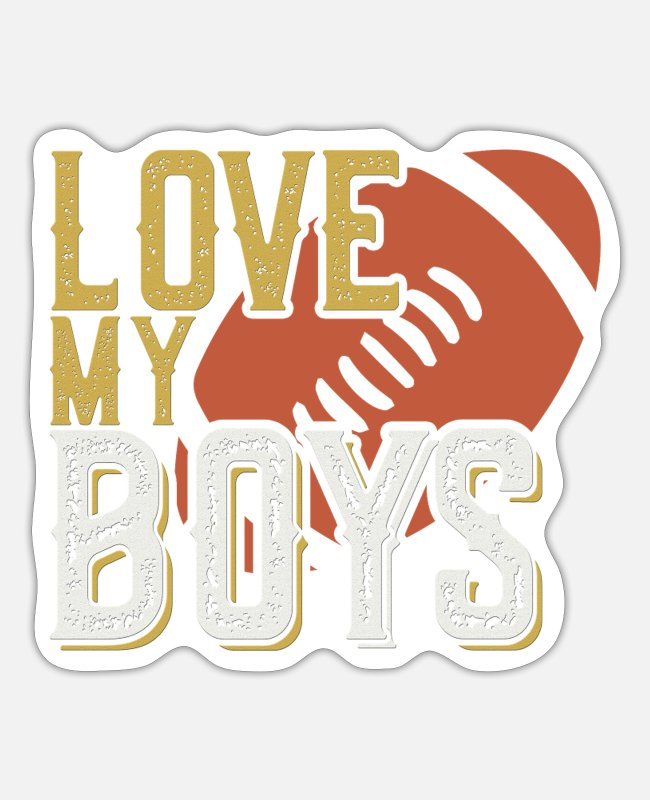 Rugby Stickers - Love My Boys Rugby Gift Idea - Sticker white mat
