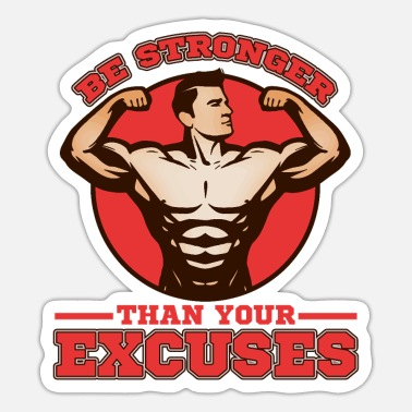 Body Building Bodybuilder Body Building Strength Training Gift - Sticker