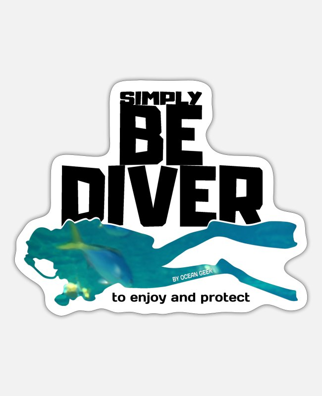 Nature Stickers - Be Diver - Supporting the Oceans - Sticker white matte