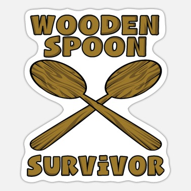 Wooden Spoon Survivor – Funny Gift for Son - Sticker