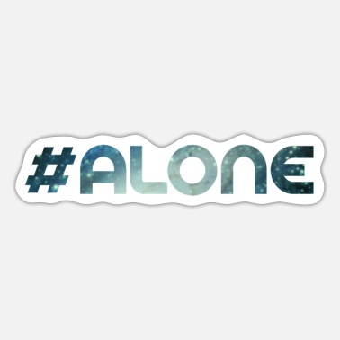 Loneliness lonely loneliness alone - Sticker