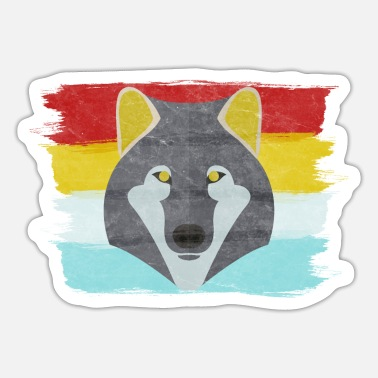 Pack-animals Wolf head wolf animal pack animals predator wilderness - Sticker