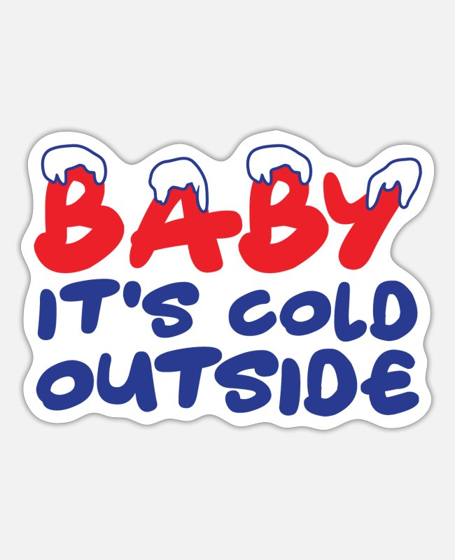 Christmas Stickers - Winter cold cold baby - Sticker white matte