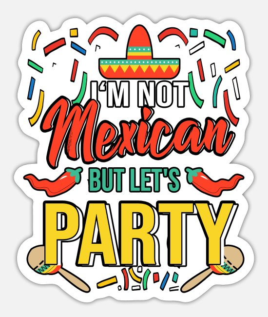 Mexican Stickers - Mexico celebration party - Sticker white mat