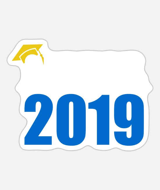 High Stickers - Senior 2019 Graduate High School Senior Gifti - Sticker white mat