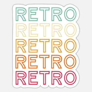 Retro Retro retro retro - Sticker