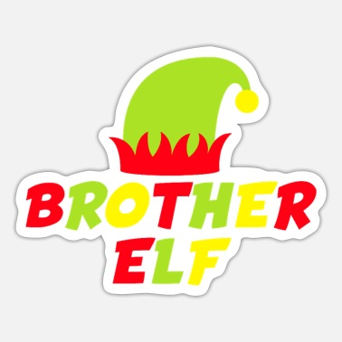 Family Matching Christmas Shirt - Sister Elf - Sticker