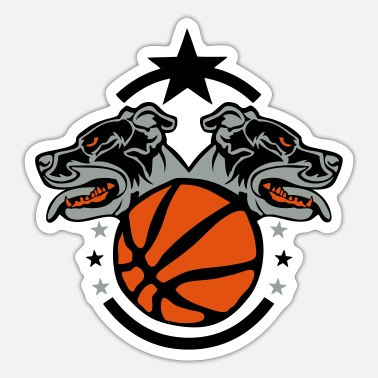 Dog Club basketball club logo dog dog hund - Sticker