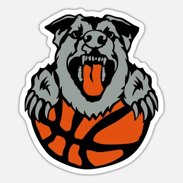 Dog Club basketball club logo dog dog hund2 - Sticker