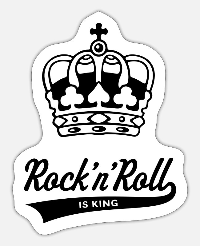 Tanzen Stickers - Rock 'n' Roll Is King - Sticker white matte