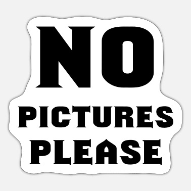 Picture no pictures please - Sticker