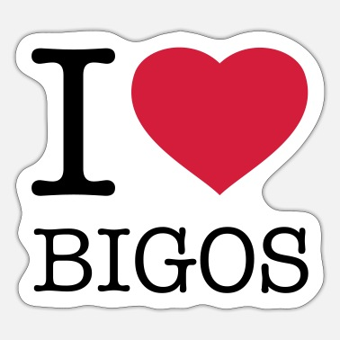 Big Love I LOVE BIGOS - Pegatina