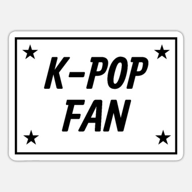 K-Pop Fan Design - met sterren - Sticker