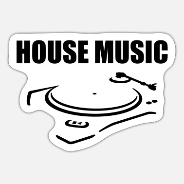 House House musik - Sticker