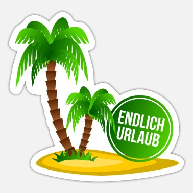 Holiday Island Holiday palm island - Sticker