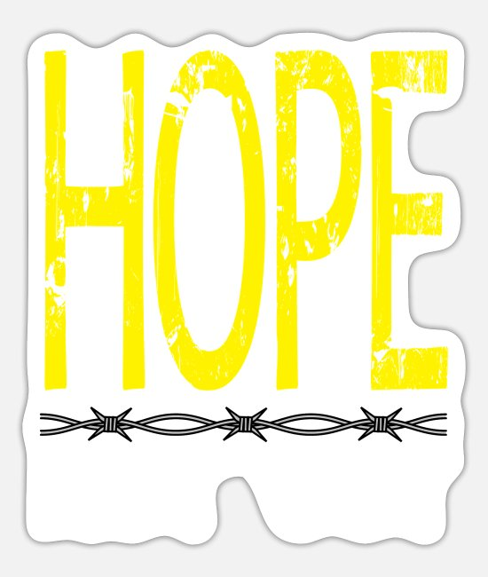 "Escape Stickers - Stay in with this ""Hope Not Out"" tee design. - Sticker white mat"