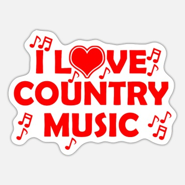 Countrymusic New - Sticker