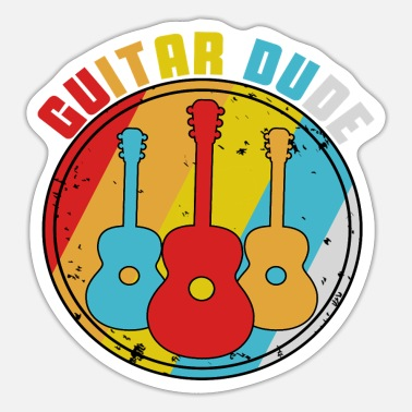 Guitar Dude Guitar dude - Sticker