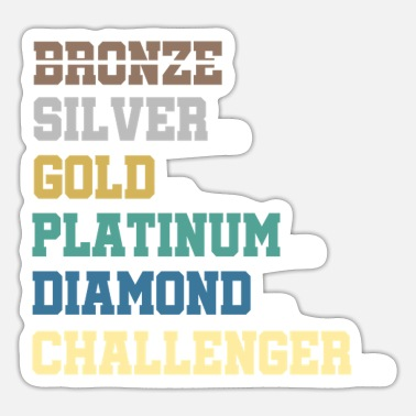 Platina LoL Bronze Silver Platinum Diamond Gift - Sticker