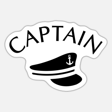 Captain CAPTAIN CAPTAIN HAT - Sticker